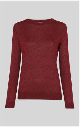 Whistles Sparkle Crew Neck Knit