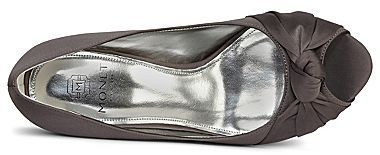PeepToe Monet® Tamra Bow Peep-Toe Satin Pumps
