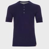 Paul Smith Men's Navy Jersey Short Sleeve Henley Top
