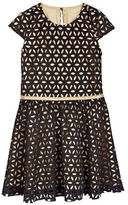 Petit Lem Girls 2-6x Holiday Laser Cut Scuba Dress