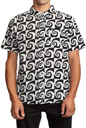 RVCA Whirlpool Graphic Short Sleeve Button-Up Shirt