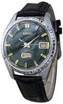 Seiko 6206 8160 Stainless Steel / Leather Vintage 37mm Mens Watch