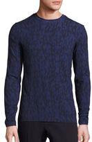 Armani Collezioni Multicolored Diamond-Print Sweater