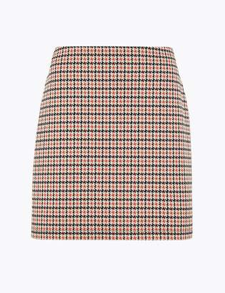 Marks and Spencer Dogtooth A-Line Mini Skirt