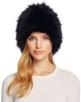 Loeffler Randall Tall Fox Fur Hat