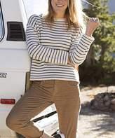 Carve Designs Women's Pullover Sweaters Birch - Birch Moss Stripe Whitcomb Wool-Blend Sweater - Women