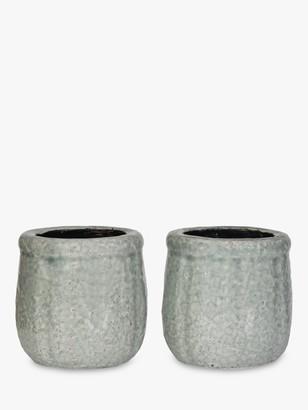 Garden Trading Minori Ceramic Planters, Set of 2, Aqua