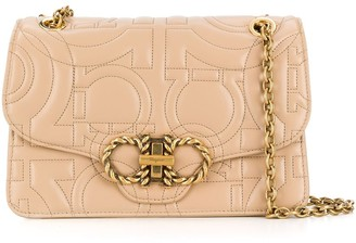 Salvatore Ferragamo Gancini quilted leather crossbody bag