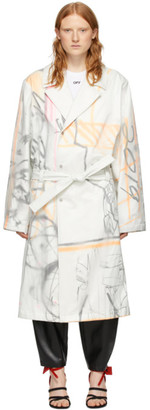 Off-White White Futura Edition Trench Coat