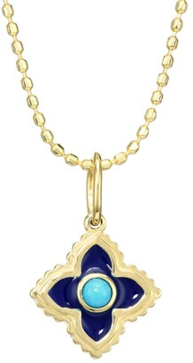 Sydney Evan 14K Yellow Gold & Turquoise Moroccan Pendant Necklace