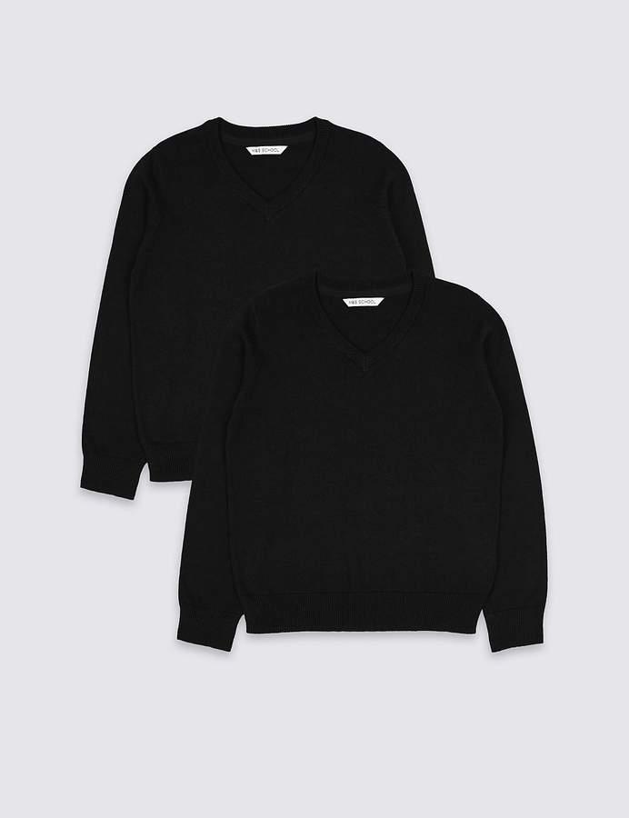 newest style of biggest selection hot sale Black V Neck School Jumper - ShopStyle UK