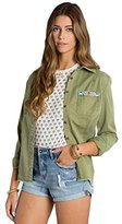 Billabong Junior's Fade and Fly Woven Military Shirt