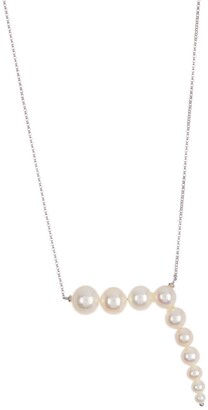 Ron Hami 14K White Gold Freshwater Pearl Pendant Necklace