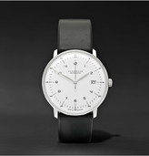 Junghans - Max Bill Stainless Steel And Leather Watch