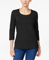 Karen Scott Scoop-Neck Top, Only at Macy's