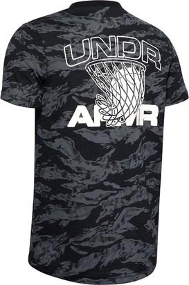 Under Armour Boys' UA AOP Camo BBall T-Shirt
