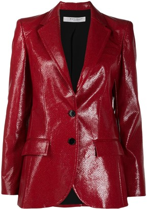 Philosophy di Lorenzo Serafini Leather Look Blazer