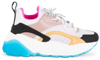 Stella McCartney Eclypse Chunky Colorblock Lace-Up Sneakers