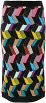 Missoni geometric pattern knit skirt
