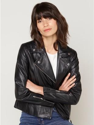 M&Co Leather biker jacket