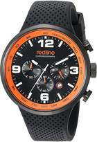 Redline Red Line Men's 'Apex12-Feet Quartz Stainless Steel and Silicone Automatic Watch, (Model: RL-50057-BB-01-OA)