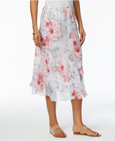 Alfred Dunner Rose Hill Floral-Print Tiered Skirt
