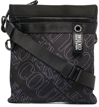 Versace Jeans Couture Logo Print Messenger Bag