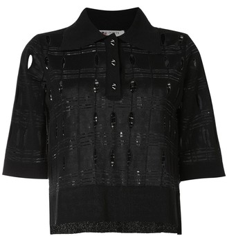 Ports 1961 Perforated Detail Polo Shirt