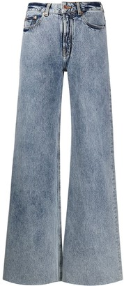 Filles a papa Romeo heat-patch flared jeans