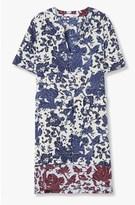 Derek Lam Contrast Floral Dress