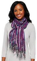 As Is Layers by Lizden Striped Metallic Scarf with Fringe