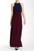 Jill Stuart Layered Colorblock Long Dress