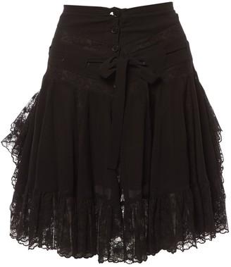 Barbara Bui Black Silk Skirt for Women
