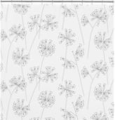Marimekko Kevatesikko Black-White Shower Curtain