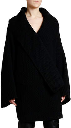 Stella McCartney Oversized Wool Chunky Textured Cardigan