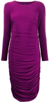 Norma Kamali ruched fitted dress