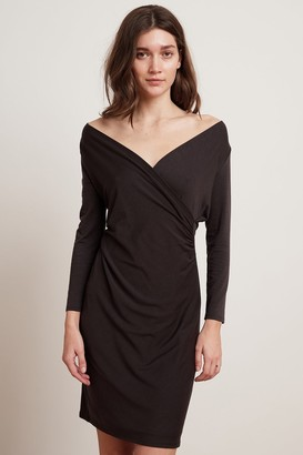 Velvet by Graham & Spencer Carolyn Tencel Long Sleeve Wrap Dress