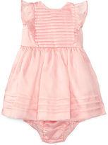 Ralph Lauren Girl Pleated Silk Dress & Bloomer