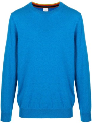 Paul Smith Long-Sleeved Ribbed-Knit Edge Jumper