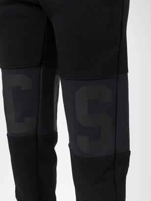 GCDS Cropped Cotton Track Pants
