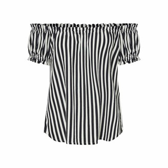 Vero Moda Women's VMHELENMILO Off Shoulder TOP Stripe WVN Blouse