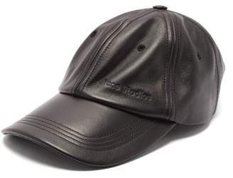 Acne Studios Carliy Leather Baseball Cap - Black