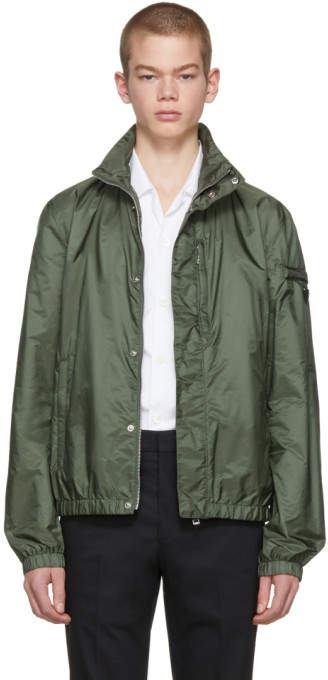 Prada Green Nylon Chest Pocket Jacket