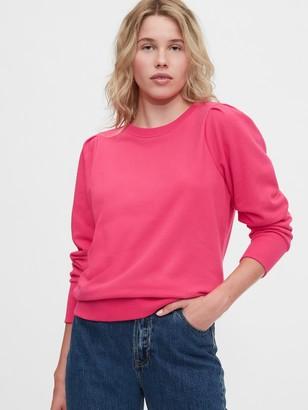 Gap Puff Sleeve Crewneck Sweatshirt