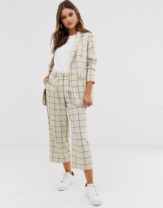 Ichi check cropped suit trousers