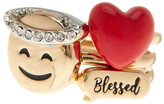 BCBGeneration Crystal & Enamel Detail Blessed 3-Piece Ring Set - Size 7