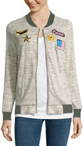 Miss Chievous Miss Chevious Long-Sleeve Patch Bomber Jacket - Juniors