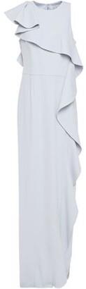 Halston Draped Crepe Gown