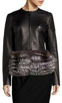 J. Mendel Fur-Trimmed Leather Jacket