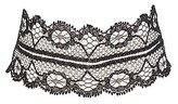 Charlotte Russe Plus Size Lace Choker Necklace